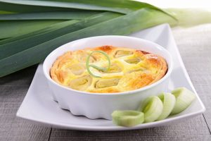 Leek and cheese pie