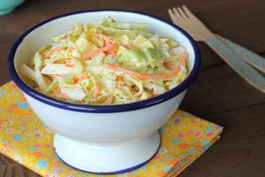 cabbage salad and carrots dietetic coleslaw